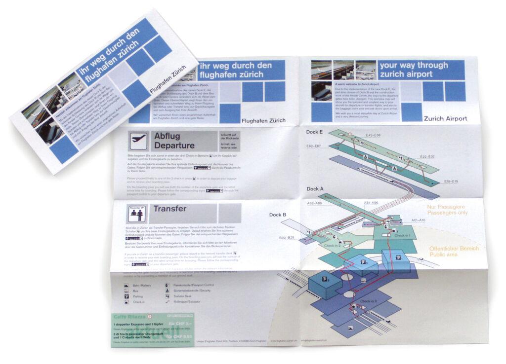 Plan vom Flughafen Zürich